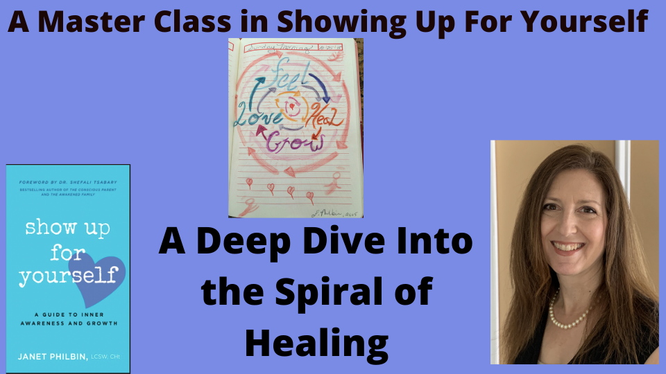 A 4-Week Live Webinar Master Class with Janet Philbin, A Deep Dive into The Spiral of Healing.